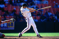 SAN FRANCISCO, CA - Jeff Kent of the San Francisco Giants bats during a game against the Philadelphia Phillies on September 1, 1999 at Candlestick Park in San Francisco, California. (Photo by Brad Mangin)