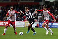 Ethan Robson of Grimsby Town and Luther Wildin of Stevenage during Stevenage vs Grimsby Town, Sky Bet EFL League 2 Football at the Lamex Stadium on 12th October 2019