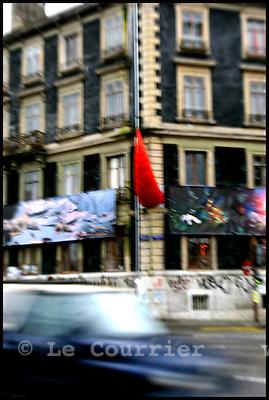 """Genève, le 18.01.2007.Quartier de Plainpalais. Squat """" Rhino"""".© J.-P. Di Silvestro / Le Courrier"""