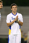 05 October 2015: Hofstra's Jon Fraser (ENG). The Duke University Blue Devils hosted the Hofstra University Pride at Koskinen Stadium in Durham, NC in a 2015 NCAA Division I Men's Soccer match. Duke won the game 3-2 in overtime.