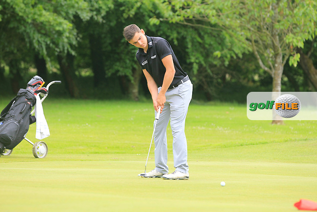 Jack Brophy (The Royal Dublin) on the 6th green during Round 2 of the Irish Boys Amateur Open Championship at Tuam Golf Club on Wednesday 24th June 2015.<br /> Picture:  Thos Caffrey / www.golffile.ie