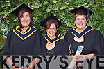 Mary Kelly O'Connor, Geraldine O'Donoghue and Catherine Finn who graduated  with a Bachelor of Science (Honours) in Nursing at the Autumn graduations which took place at the Brandon hotel on Friday.