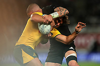 Action from the Bledisloe Cup and Rugby Championship rugby match between the New Zealand All Blacks and Australia Wallabies at Eden Park in Auckland, New Zealand on Saturday, 25 August 2018. Photo: Simon Watts / lintottphoto.co.nz