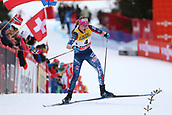 7th January 2018, Val di Fiemme, Fiemme Valley, Italy; FIS Cross Country World Cup, Tour de ski; Ladies 9km F Pursuit; Jessica Diggins (USA)