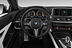 Car pictures of steering wheel view of a 2017 BMW M6 - 2 Door Coupe Steering Wheel