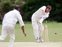 B Fulton of Hornsey is clean bowled by A Mohammed during the Middlesex County Cricket League Division Three game between Hornsey and Wembley at Tivoli Road, Crouch End, London on Sat May 29, 2010