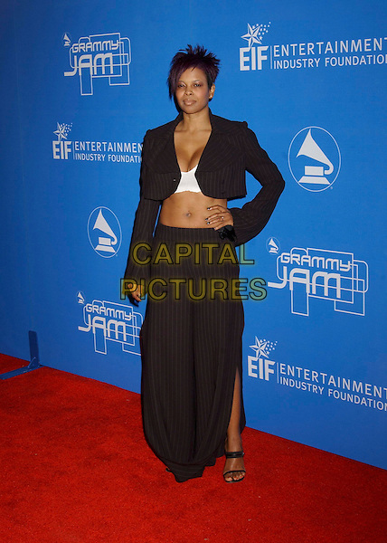 DAWN ROBINSON.During the 2004 Grammy Jam Event Celebrating the Music of Earth, Wind & Fire held at the Wiltern LG Theatre, Los Angeles, California, USA, .11th December 2004..full length pinstripe skirt short cropped jacket tummy midriff.**UK SALES ONLY**.Ref: ADM.www.capitalpictures.com.sales@capitalpictures.com.©Capital Pictures.