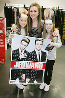 16/7/2010. Jedward fans Chloe , Meaghan and Hannagh O Loughlin are pictured at the launch of the new Jedward album at HMV Dundrum. Picture James Horan/Collins Photos