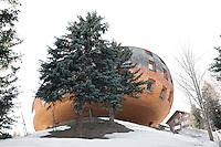 Switzerland, Engadin, St. Moritz, Chesa Futura, Arch. Norman Foster, Modern Architecture