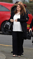 "Pictured: Christina Pinchess arrives at Swansea Crown Court. 28 March 2017<br /> Re: Toddlers at a private nursery were force fed, gagged and picked up by their wrists, Swansea Crown court has heard.<br /> Three childcare professionals are accused of cruelty at the busy nursery which had a ""rough house culture"".<br /> The whistle was blown by sixthformers on work placements at the nursery which looks after newborn infants and children up to the age of seven.<br /> ""The children concerned were left distressed and traumatised.<br /> The mother of one of the children sobbed in the public gallery after hearing how he was treated at the Bright Sparks nursery in Port Talbot, South Wales,<br /> Owner and manager Katie Davies, 32, deputy manager Christina Pinchess, 31, and and staff member Shelbie Forgan, 22, deny the child cruelty charges against them."