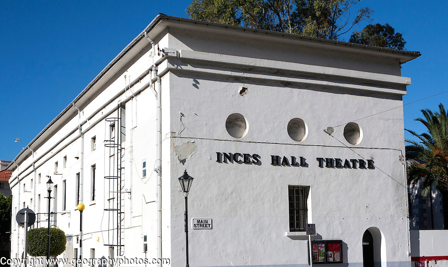 Inces Hall Theatre building Gibraltar, British terroritory in southern Europe