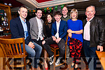 Gearoid O'Shea, David Clifford, Sandra O'Shea, Gearoid Lyne, Denis Herlihy, Julie Lyne and Jery Lyne enjoying the Annascaul GAA social at the Dingle Bay Hotel on Saturday night.