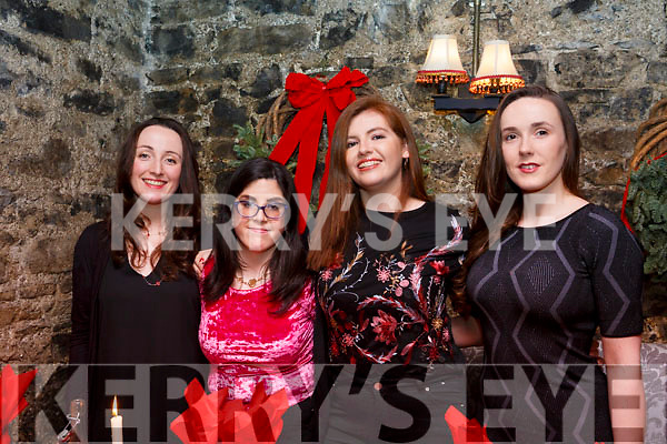 Enjoying the Womens Little Christmas celebrations in Finnigans Restaurant on Saturday night last, l-r, Ciara Finnerty, Mary Jo Daly, Mairead Lean and Aoife Flannagan.
