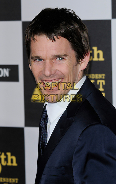 ETHAN HAWKE .The 25th Annual Film Independent Spirit Awards at the LA Live Event Deck in Los Angeles, California, USA..March 5th, 2010  .headshot portrait black white smiling .CAP/ROT.©Lee Roth/Capital Pictures