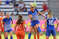 Houston, TX - Sunday Sept. 11, 2016: Kristie Mewis during a regular season National Women's Soccer League (NWSL) match between the Houston Dash and the Boston Breakers at BBVA Compass Stadium.