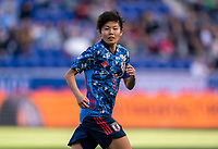HARRISON, NJ - MARCH 08: Shiori Miyake #3 of England sprints during a game between England and Japan at Red Bull Arena on March 08, 2020 in Harrison, New Jersey.