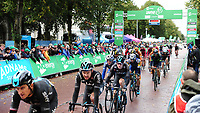 Picture by Simon Wilkinson/SWpix.com - 10/09/2017 - Cycling - OVO Energy Tour of Britain - Stage 8 Worcester to Cardiff - final stage<br /> Finish Cardiff - podiums Team SKY
