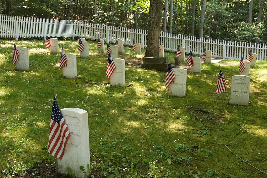 A historic cemetery on Mackinac Island in Michigan.