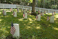 A historic cemetery on Mackinac Island in Michigan.