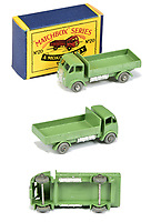 BNPS.co.uk (01202 558833)<br /> Pic: Vectis/BNPS<br /> <br /> Pictured: Matchbox Regular Wheels 20a ERF Dropside Lorry<br /> <br /> One man's vast collection of model cars amassed over a lifetime has sold at auction for an incredible £250,000.<br /> <br /> Simon Hope, 68, has been collecting matchbox models since he was a small child and has bought over 4,000 over the past six decades.<br /> <br /> His hobby has cost him thousands of pounds and at and engulfed a huge slice of his life but he has now decided to part with the toys