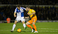 Garry Thompson of Wycombe Wanderers goes through on goal but is stopped by Tom Lockyer of Bristol Rovers     during the Sky Bet League 2 rearranged match between Bristol Rovers and Wycombe Wanderers at the Memorial Stadium, Bristol, England on 1 December 2015. Photo by Andy Rowland.