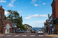 Bayfield Wisconsin of the gateway to the Apostle Islands National Lakeshore on Lake Superior.