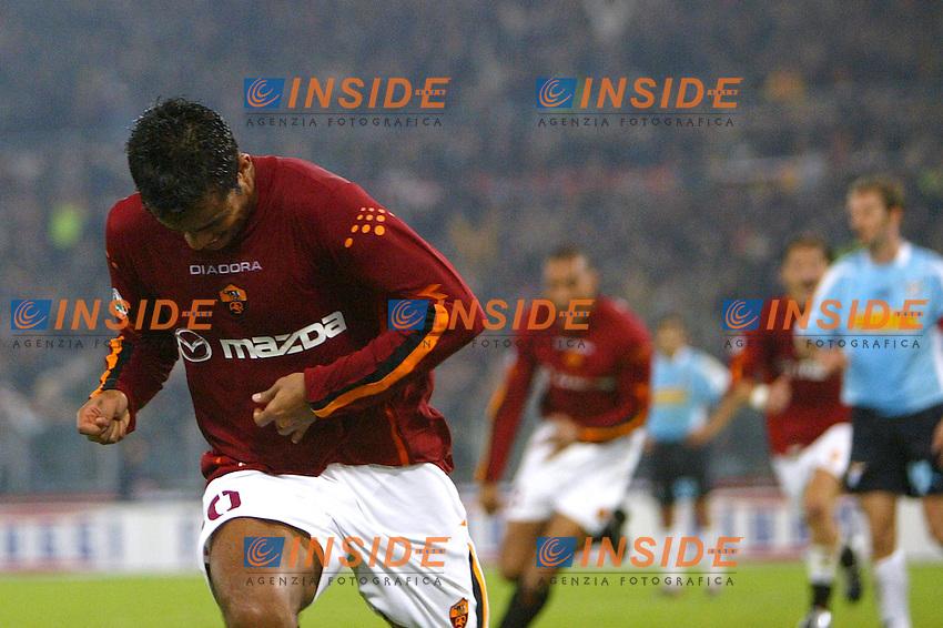 Roma 9/11/2003 <br /> Roma Lazio 2-0 <br /> Amantino Mancini (Roma) festeggia il gol del 1-0. Mancini celebrates goal of 1-0 <br /> Foto Andrea Staccioli Insidefoto