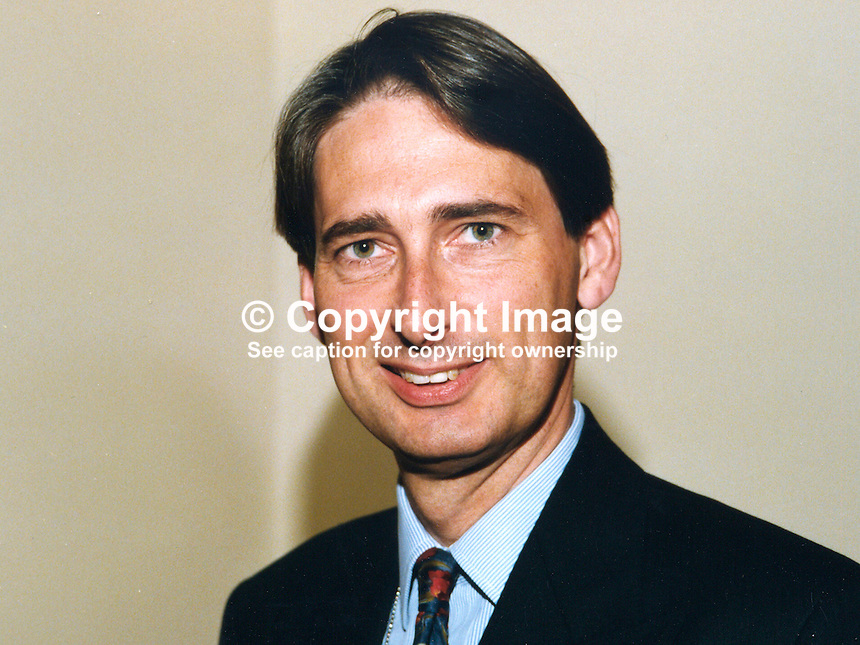 Philip Hammond, MP, Conservative Party, UK, 19971032PH..Copyright Image from Victor Patterson, 54 Dorchester Park, Belfast, UK, BT9 6RJ..Tel: +44 28 9066 1296.Mob: +44 7802 353836.Voicemail +44 20 8816 7153.Skype: victorpattersonbelfast.Email: victorpatterson@mac.com.Email: victorpatterson@ireland.com (back-up)..IMPORTANT: If you wish to use this image or any other of my images please go to www.victorpatterson.com and click on the Terms & Conditions. Then contact me by email or phone with the reference number(s) of the image(s) concerned.