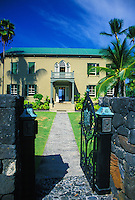 Hulihee Palace museum in Kailua-Kona. Run by the Daughters of Hawaii since 1927 to preserve Hawaii's cultural legacy.