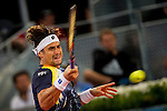 The tennis player David Ferrer during the match against Ernest Gulbis in the Madrid Open Tennis Tournament. In Madrid, Spain, on 09/05/2014.