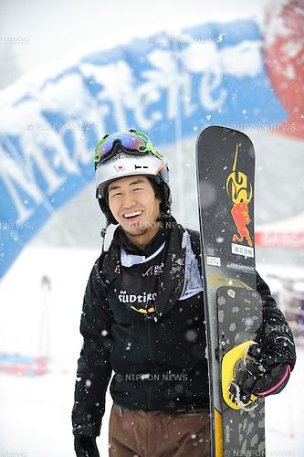 Masaki Shiba (JPN), DECEMBER 16, 2014 - Snowboarding : Masaki Shiba of Japan poses during the FIS Snowboard World Cup Men's Parallel Giant Slalom in Carezza, Italy. (Photo by Hiroyuki Sato/AFLO) [2016]