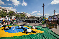 "12.06.2014 - ""Brazil I Do Care"" - Demo in Trafalgar Square"