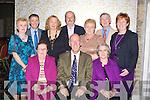 FUNDRAISER: Attending the Dan Paddy Andy, fundraising dance in The Earl of Desmond Hotel, Tralee on Friday night, Front l-r: Mary Mangan, Joe Harrington and Chris Quinn. Back l-r: Hannah O'Sullivan, James O'Sullivan, Helen Sohisas,Pat Foley, Helen Foley,Mike Mangan and Kay O'Leary..................... ..........