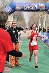 7 aprile 2013 - Triathlon di Torino. Si corre a Torino il primo triathlon della stagione con 260 atleti al via, vincono Alessia Orla (DDS) e Giulio Molinari (Carabinieri).<br /> <br /> Alessia Orla taglia il traguardo salutata da Davide Nerattini