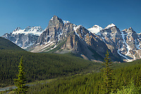 Tower of Babel anchors spectacular peaks of Valley of the Ten Peaks and Consolation Valley in Banff National Park