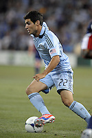 Soony Saad  (22) Sporting KC forward in action..Sporting Kansas City and New England Revolution played to a 0-0 tie at LIVESTRONG Sporting Park, Kansas City, KS.