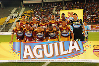 IBAGUÉ -COLOMBIA, 23-01-2006. Jugadores de Deportes Tolima posan para una foto previo al encuentro con Deportivo Independiente Medellin por la fecha 3 de la Liga Aguila I 2015 jugado en el estadio Manuel Murillo Toro de la ciudad de Ibagué./ Players of  Deportes Tolima pose to a photo prior the match agaisnt Deportivo Independiente Medellin for the third date of the Aguila League I 2015 played at Manuel Murillo Toro stadium in Ibague city. Photo: VizzorImage/STR