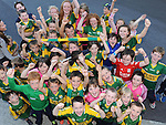A group of young Kerry football fans waiting to meet the Kerry senior footballers at Fitzgerald Stadium, Killarney at  the team's final training session  before the All Ireland semi-final against Dublin on Sunday.  Picture: Eamonn Keogh (MacMonagle, Killarney)