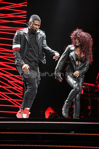 NEW YORK, NY - NOVEMBER 7, 2014<br /> Usher performs at the New York stop of his The UR Experience Tour at Madison Square Garden, November 7, 2014 in New York City. Walik Goshorn / MediaPunch