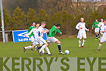 Kerry - Ryan Carroll gets away from the pack in the Kerry against DDSL in the Youths Cup at Mounthawk park on Sunday