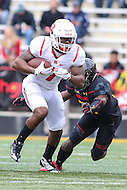 College Park, MD - November 26, 2016: Rutgers Scarlet Knights running back Robert Martin (7) runs the ball during game between Rutgers and Maryland at  Capital One Field at Maryland Stadium in College Park, MD.  (Photo by Elliott Brown/Media Images International)