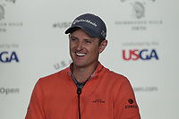 Justin Rose (ENG) press conference during Wednesday's Practice Day of the 118th U.S. Open Championship 2018, held at Shinnecock Hills Club, Southampton, New Jersey, USA. 13th June 2018.<br /> Picture: Eoin Clarke | Golffile<br /> <br /> <br /> All photos usage must carry mandatory copyright credit (&copy; Golffile | Eoin Clarke)