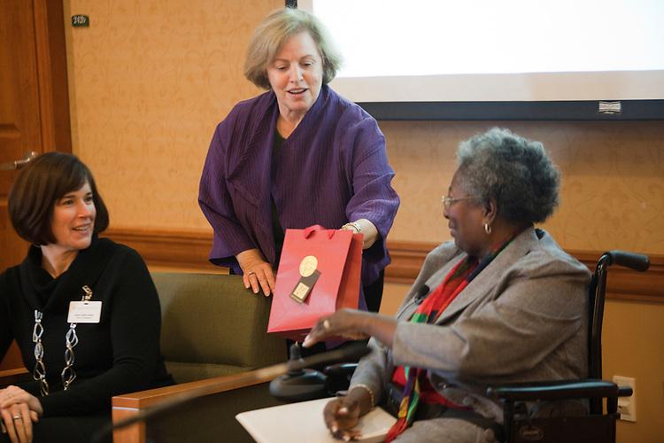 "Women in Philanthropy of Ohio University ""Women's View"" talk show at Baker Center Theater on November 7, 2013."