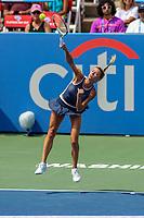 Washington, DC - August 4, 2019: Camila Giorgi (ITA) serves the ball during the Citi Open WTA Singles final at William H.G. FitzGerald Tennis Center in Washington, DC  August 4, 2019.  (Photo by Elliott Brown/Media Images International)