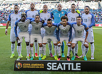 Seattle, WA - June 16, 2016: The U.S. Men's National team go up against Ecuador in Quarterfinal action at the 2016 Copa America Centenario at CenturyLink Field.
