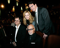 Montreal (Qc) CANADA - Feb 11 2010 -Celine autours du Monde Premiere : Stephane Laporte, Julie Snyder, Rene Angelil, Pierre-Karl Peladeau