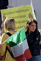 Roma, 11 Ottobre 2017<br /> Carla Ruocco.<br /> Movimento 5 Stelle in Piazza Montecitori contro la fiducia al Governo per la Legge Elettorale Rosatellum Bis