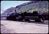 Side view of D&amp;RGW  #481 K-36 in Durango.<br /> D&amp;RGW  Durango, CO