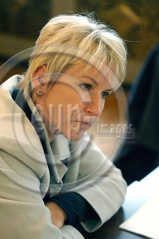 BRUSSELS - BELGIUM - 20 OCTOBER 2003 -- Margot Wallstroem (Wallstr?m, Wallstrom) EU-Commisioner for Enviroment during an interview.  PHOTO: ERIK LUNTANG / eup-images