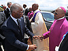 Qunu, South Africa: 15.12.2013: STATE FUNERAL FOR NELSON MANDELA<br /> THABO MBEKI (former South African President) GREETS ARCHBISHOP DESMOND TUTU<br /> at the Funeral service for former President Nelson Mandela in Qunu, Eastern Cape, South Africa<br /> Mandatory Credit Photo: &copy;Jiyane-GCIS/NEWSPIX INTERNATIONAL<br /> <br /> **ALL FEES PAYABLE TO: &quot;NEWSPIX INTERNATIONAL&quot;**<br /> <br /> IMMEDIATE CONFIRMATION OF USAGE REQUIRED:<br /> Newspix International, 31 Chinnery Hill, Bishop's Stortford, ENGLAND CM23 3PS<br /> Tel:+441279 324672  ; Fax: +441279656877<br /> Mobile:  07775681153<br /> e-mail: info@newspixinternational.co.uk